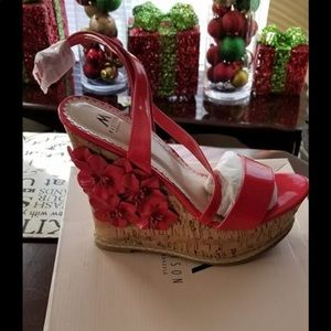 302a47e62ec Women shoes.  30  50. Red Wedged heels
